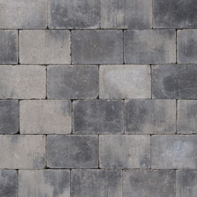 Klinkers Stenen Abbeystones Getrommeld 14x21x6cm Grijszwart