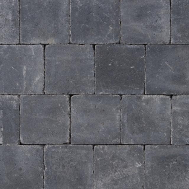 Klinkers Stenen Abbeystones Getrommeld 20x20x6cm Antraciet