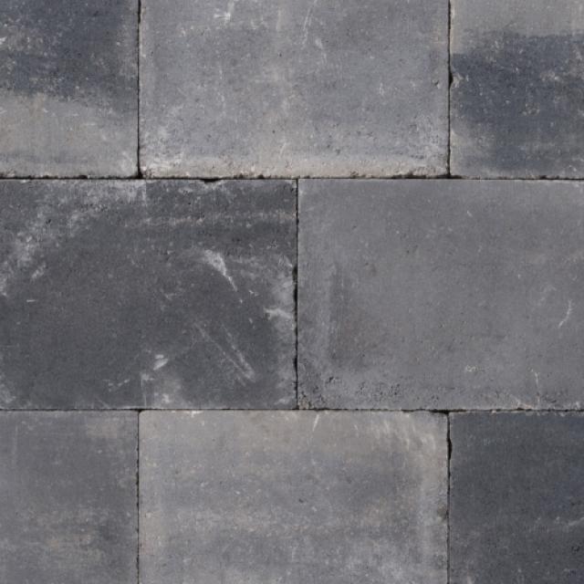 Excluton Abbeystones Getrommeld 30x40x6cm Grijs/Zwart