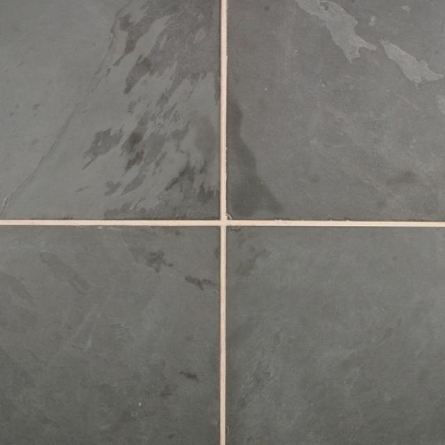 Leisteen Tegels Mustang Naturel Gecalibreerd 80x80x2 Black