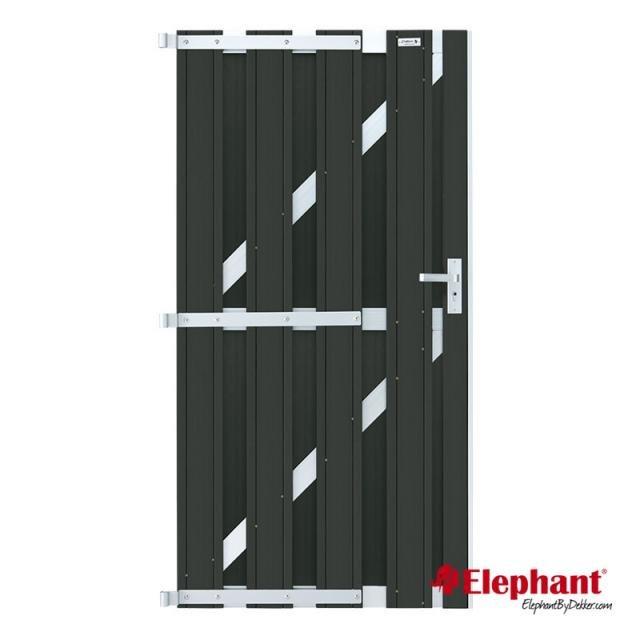 Elephant Design poort antraciet/aluminium 90x180cm
