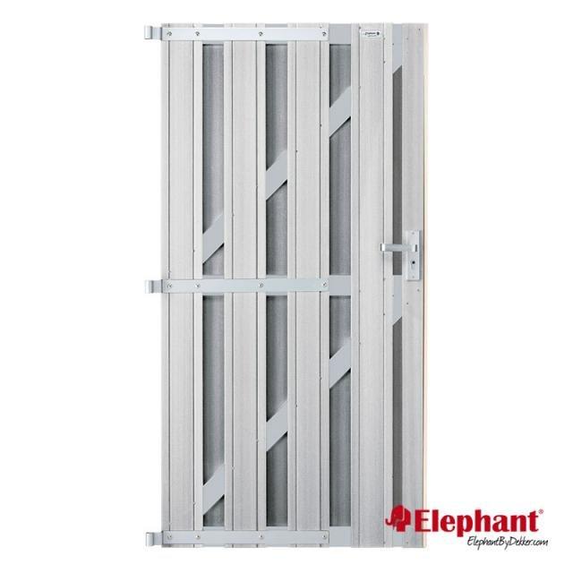 Elephant Design poort lichtgrijs 90x180cm
