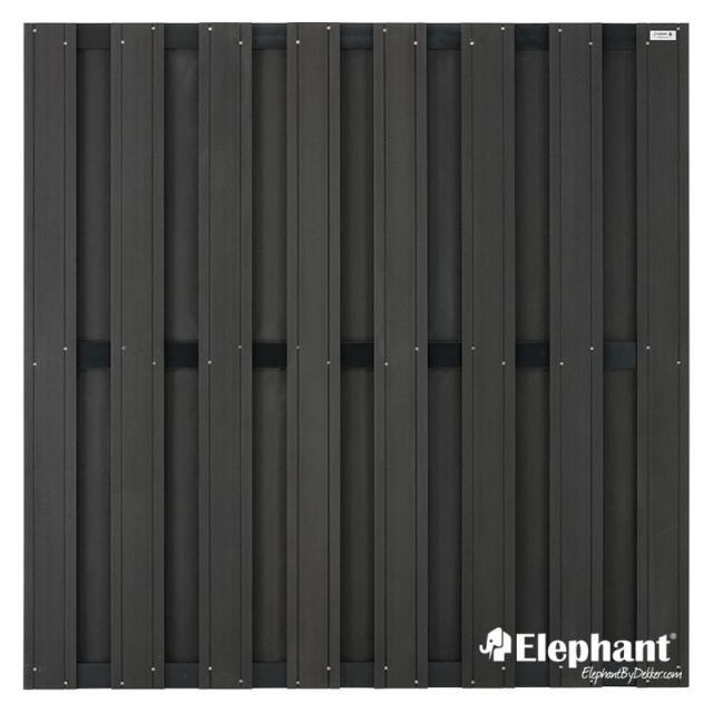 Elephant Design scherm antraciet 180x180cm