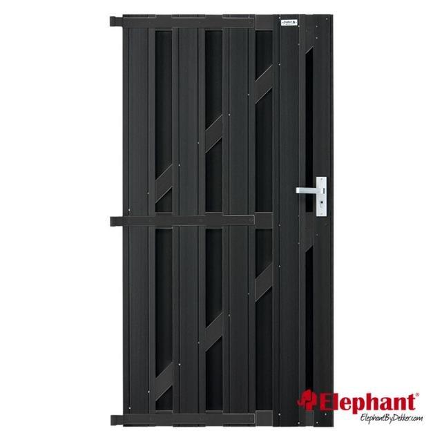 Elephant Design poort antraciet 90x180cm