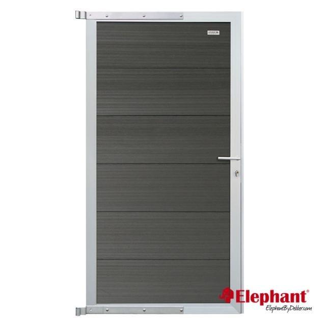 Elephant Forte poort antraciet/aluminium 90x180cm