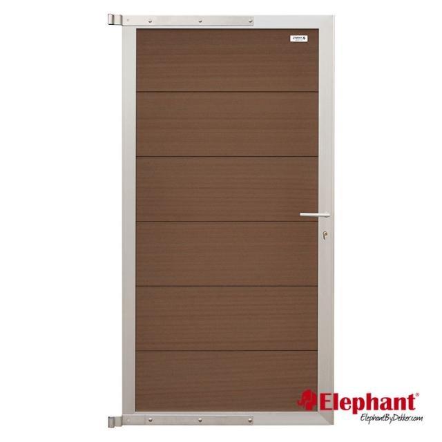 Elephant Forte poort bruin/aluminium 90x180cm