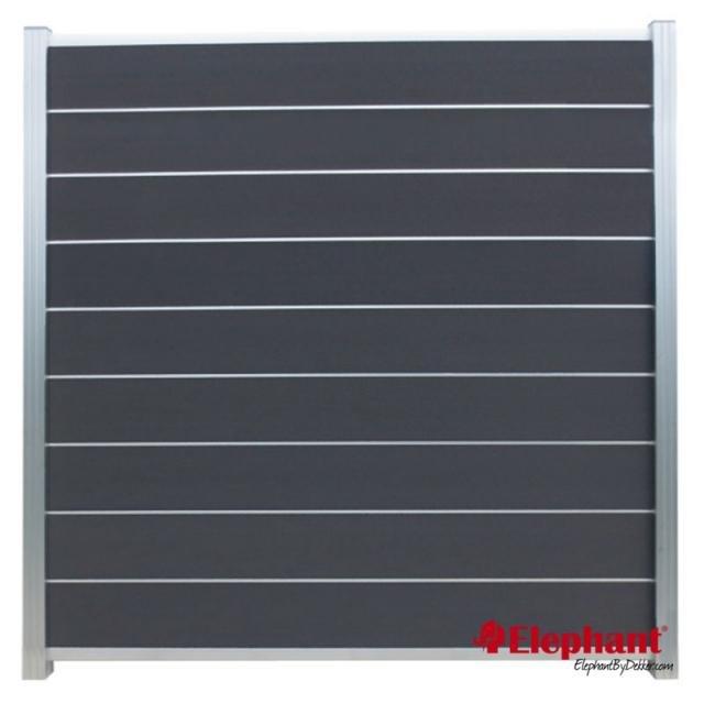 Composiet Modulair scherm rock grey /  alu geanodiseerd 180x200 cm
