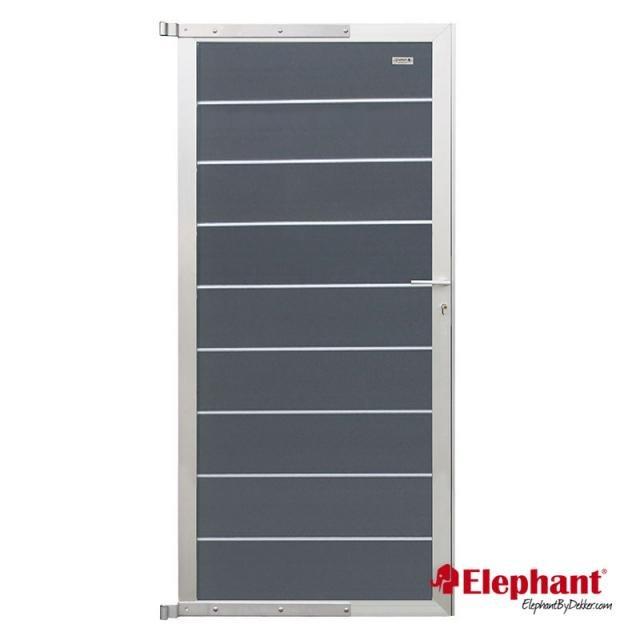 Composiet Modulair poort rock grey /  alu geadoniseerd 90x200 cm