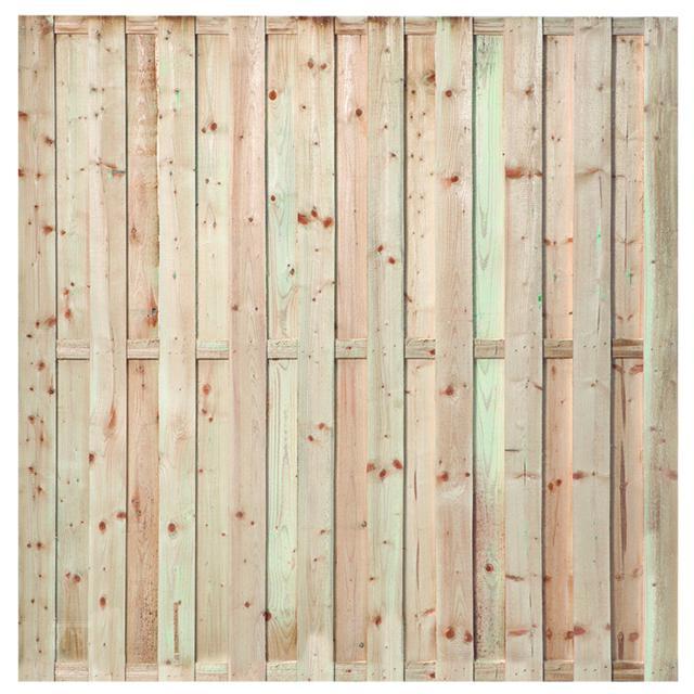 Tuinscherm Ermelo met hardhouten palen incl. plaatsen