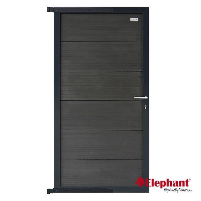 Forte poort antraciet / aluminium antraciet gepoedercoat incl. plaatsen