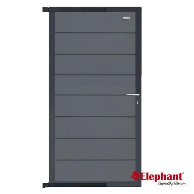 Composiet Modulair poort rock grey /  antra gepoedercoat 90x180 cm incl. plaatsen