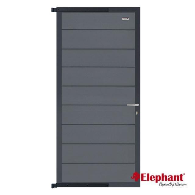Composiet Modulair poort rock grey /  antra gepoedercoat 90x200 cm incl. plaatsen