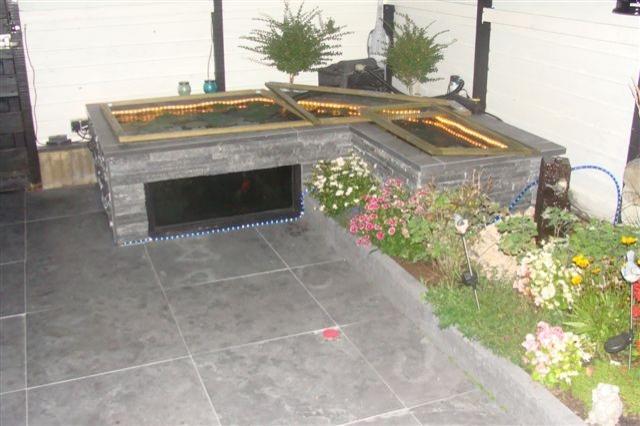 Chinees hardsteen terrastegels 60x60x2,5 cm gezoet/getrommeld
