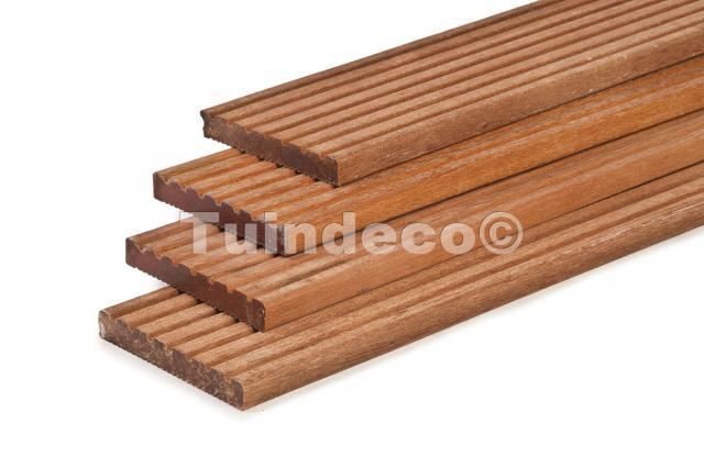 Hardhouten vlonderplanken 490 cm
