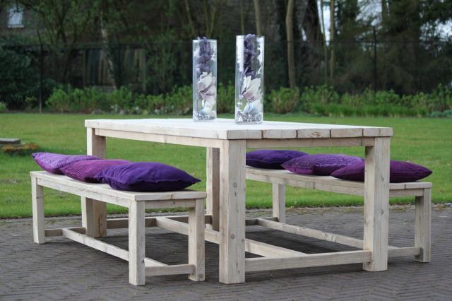 Tuin tafel Stockholm 5 cm blad 280x100 50020