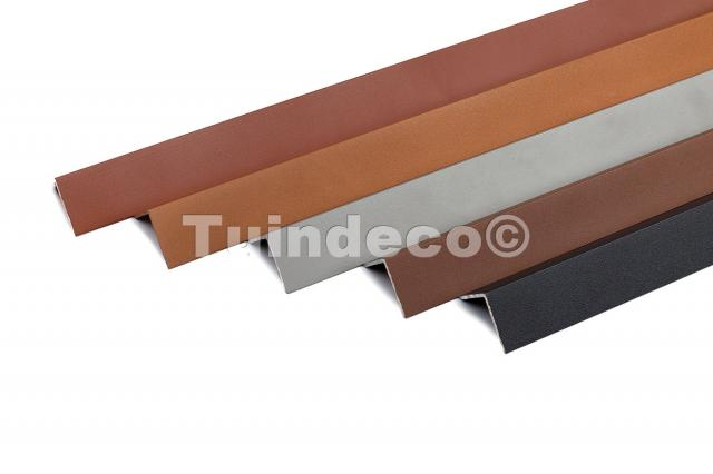 Hoekplint aluminium redwood