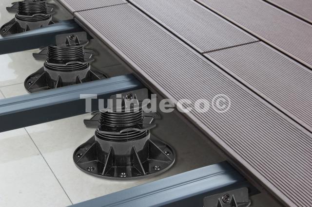 Verstelbare kunststof vloerdragers 6-14 cm