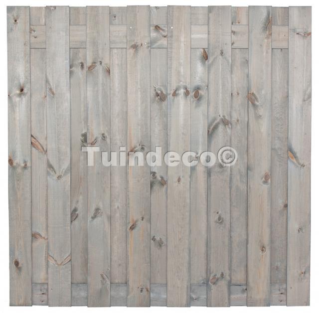 Tuinscherm Antwerpen zilvergrijs 180x180 cm