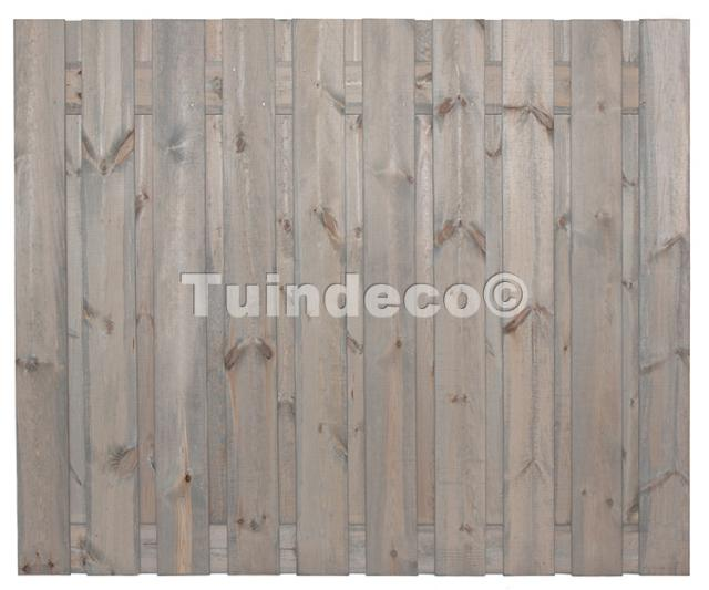 Tuinscherm Brussel zilvergrijs 150x180 cm