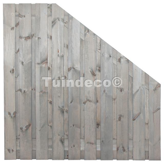 Tuinscherm Brussel zilvergrijs 180>90x180 cm