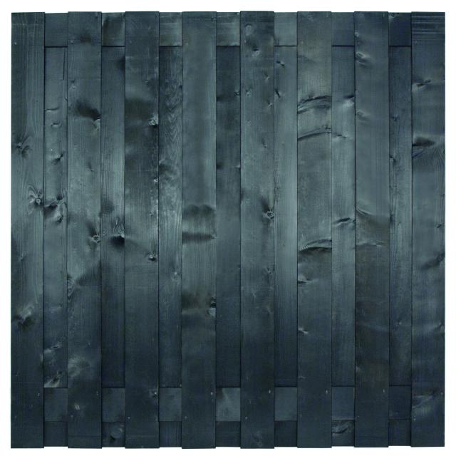 Tuinscherm Hamburg zwart gespoten 180x180cm 8.50180