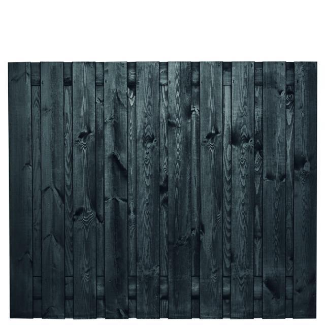 Tuinscherm Stuttgart zwart gespoten 3 150x180cm   8.52150