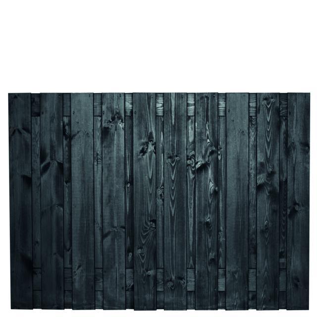Tuinscherm Stuttgart zwart gespoten 2 130x180cm    8.52130