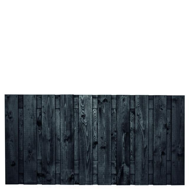 Tuinscherm Stuttgart zwart gespoten 1 90x180cm     8.52090