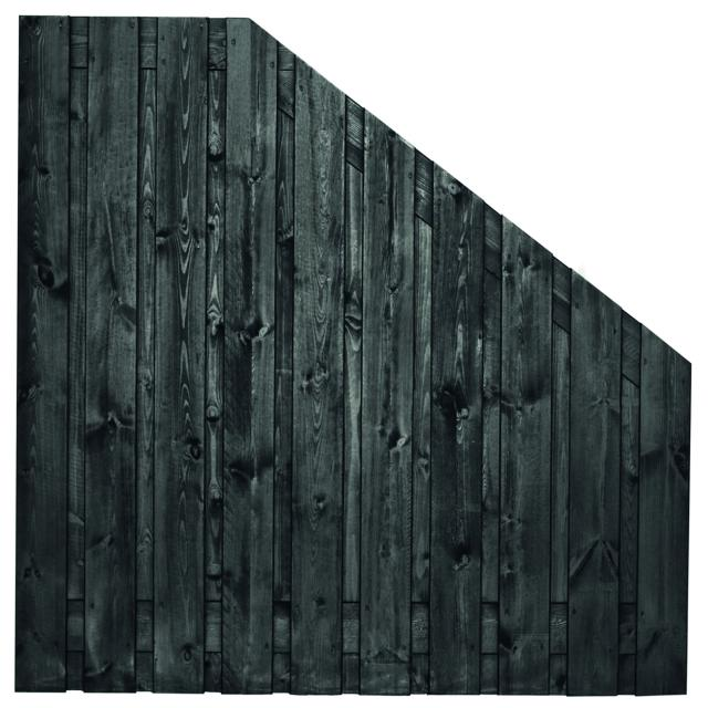 Tuinscherm Stuttgart zwart gespoten 5 180>90x180cm 8.52918