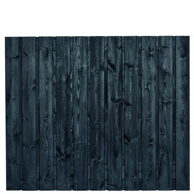 Tuinscherm Dresden zwart gespoten 3 150x180cm