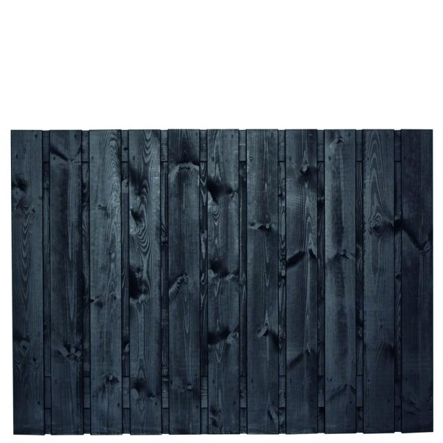 Tuinscherm Dresden zwart gespoten 2 130x180cm   8.53130