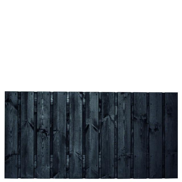 Tuinscherm Dresden zwart gespoten 1 90x180cm