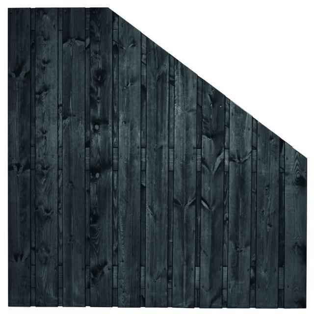 Tuinscherm Dresden zwart gespoten 5 180>90x180cm