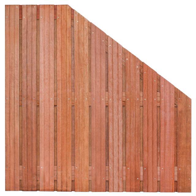 Tuinscherm Hoorn Hardhout 5 180>90x180cm 8.43918
