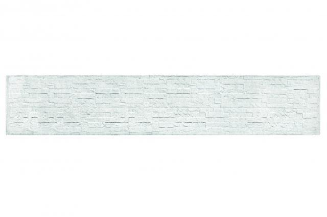 Onderplaat Leisteen motief wit/grijs 36x4.8x184