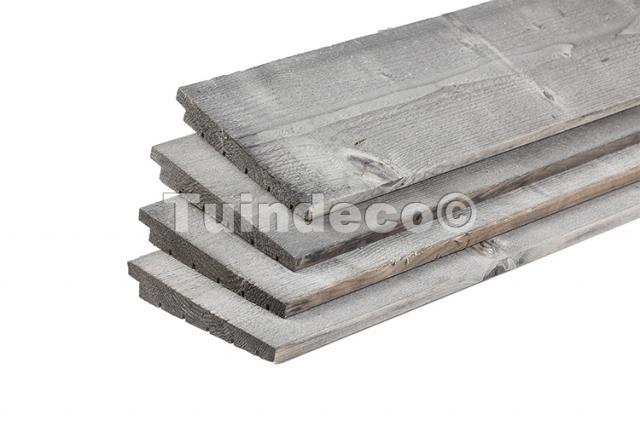 ME Grenen plank zilvergrijs 180 cm