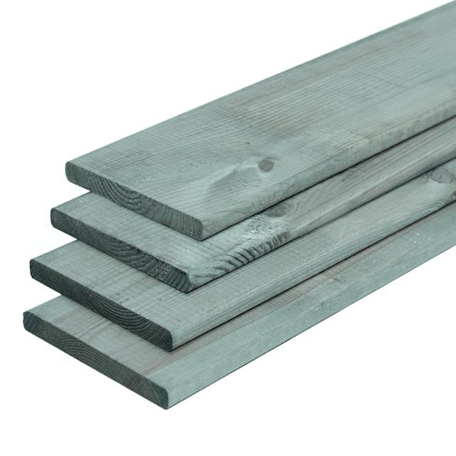 Grenen plank geschaafd grijs gespoten 1.6x14x180cm