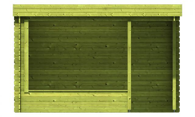 Blokhut Barbara met veranda plat dak Geimpregneerd  40.0732G