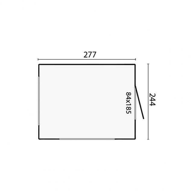 Blokhut Kiosk Modern Plat dak   40.0176