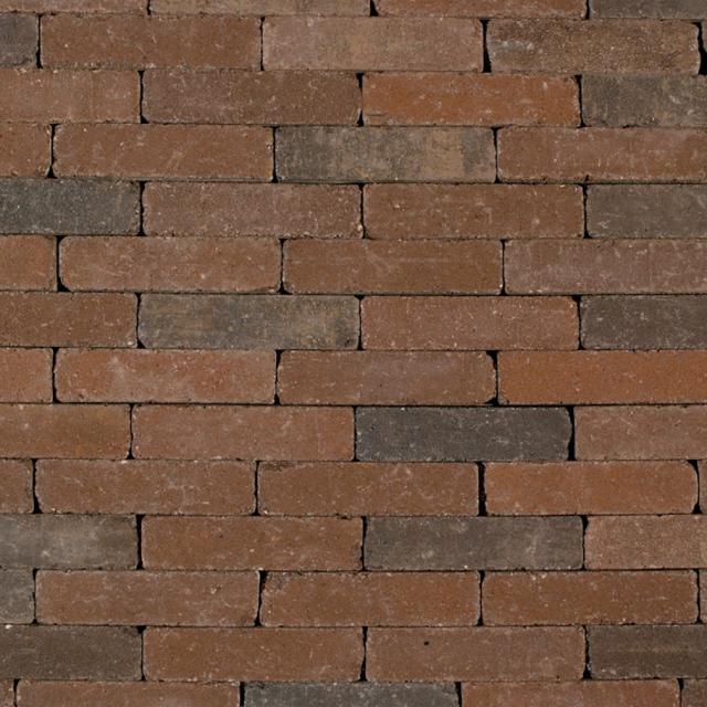 Klinkers Stenen Abbeystones Getrommeld 20x5x7cm gesmoord bruin