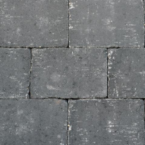 Excluton Abbeystones Getrommeld 20x30x6cm Nero