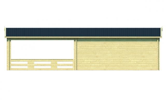 Blokhut Sheffield Puntdak 40.7015