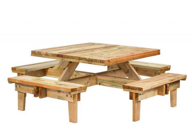 Picknicktafel vierkant 30.0004