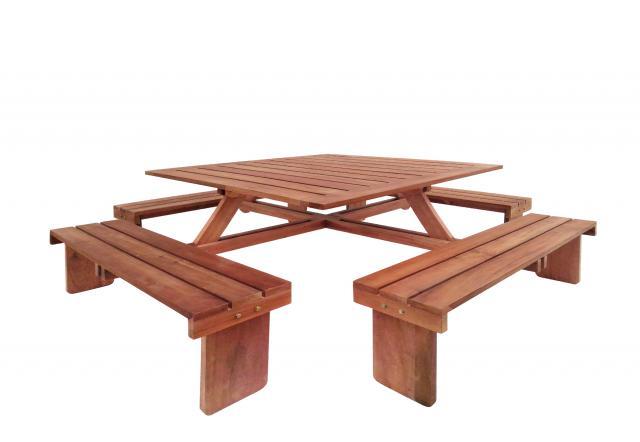 Picknicktafel vierkant hardhout 30.1004