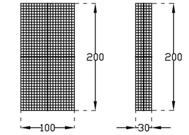 Gabion gaasmat gegalvaniseerd 30x200cm 15.7002
