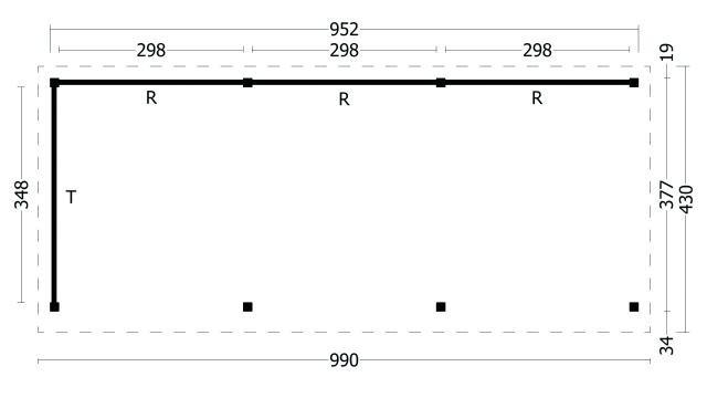 Plat dak Oslo type 6 XL geplaatst 42.7974