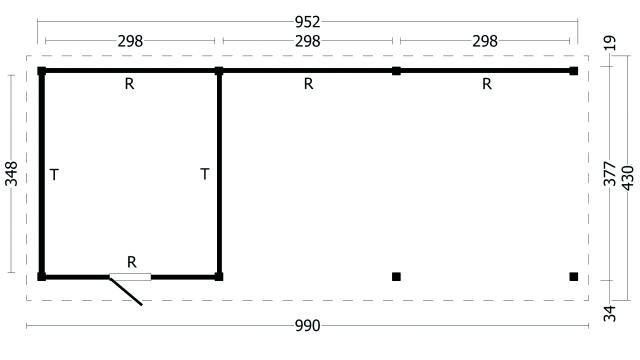 Plat dak Oslo type 7 XL 42.7975