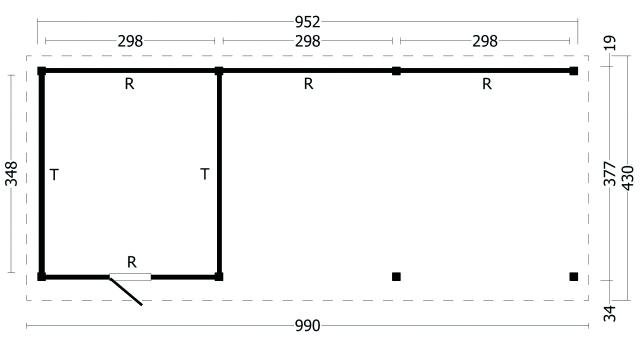 Plat dak Oslo type 7 XL geplaatst 42.7975