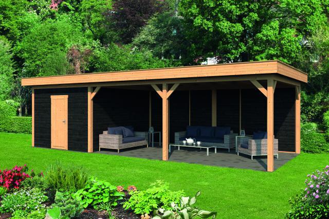 Plat dak Oslo type 7 XL geplaatst