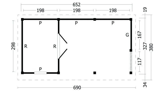 Plat dak Oslo type 8 geplaatst 42.7968